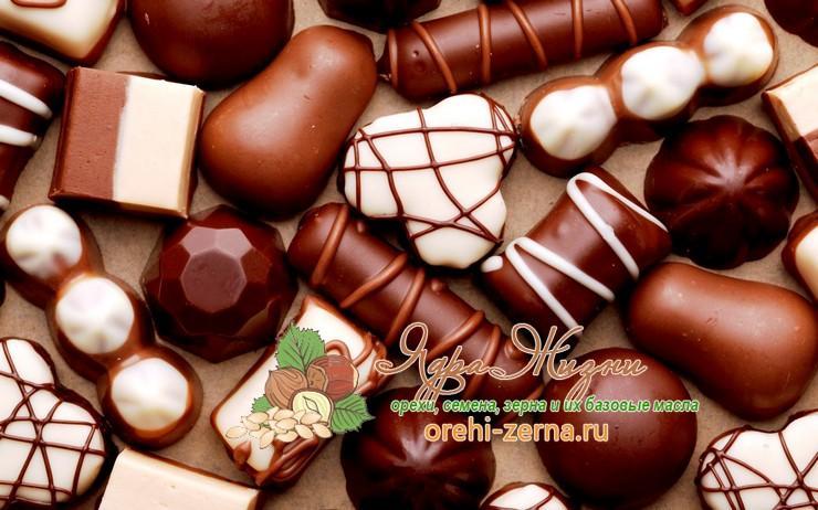 конфеты и сладости без пальмового масла