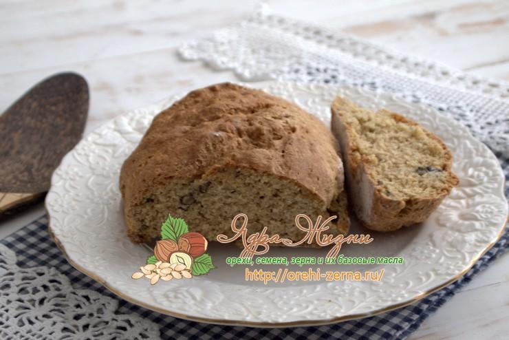 Пшенично-ржаной хлеб с грецкими орехами: рецепт в домашних условиях