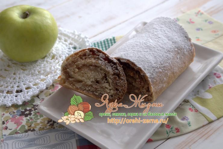 Штрудель с грецкими орехами: рецепт в домашних условиях
