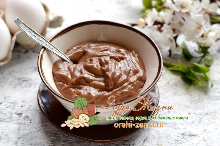 Заварной шоколадный крем для торта из какао-порошка рецепт в домашних условиях