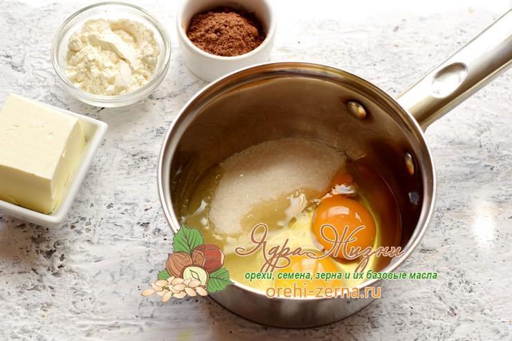 Заварной шоколадный крем для торта из какао-порошка