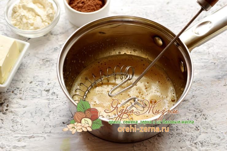 Заварной шоколадный крем для торта из какао-порошка рецепт