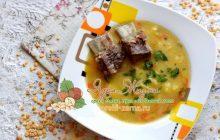 Густой гороховый суп с ребрышками: рецепт в домашних условиях