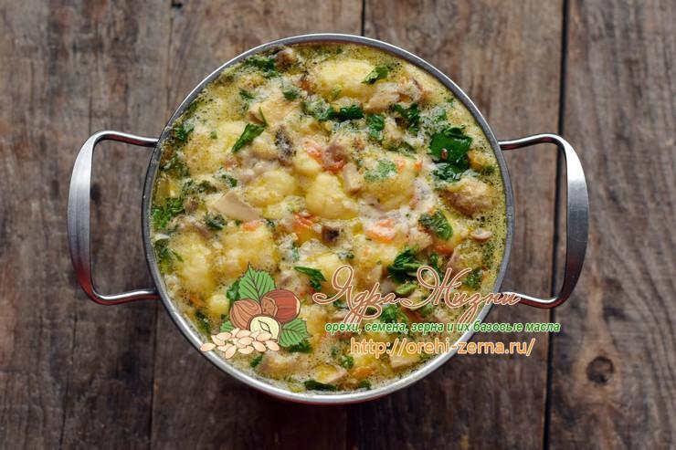 гречневый суп с грибами и картофельными клецками рецепт в домашних условиях