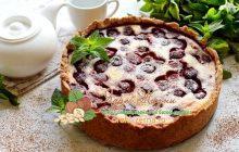 Клубничный пирог из песочного теста со сметаной: рецепт в домашних условиях