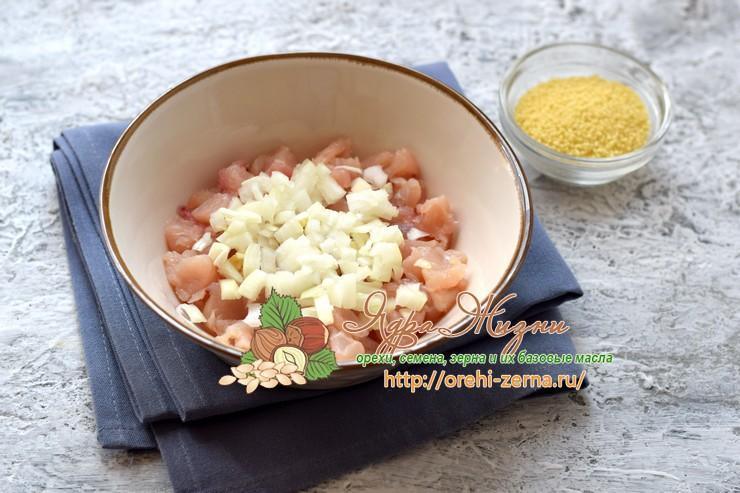 куриные котлеты с кус-кусом рецепт с фото