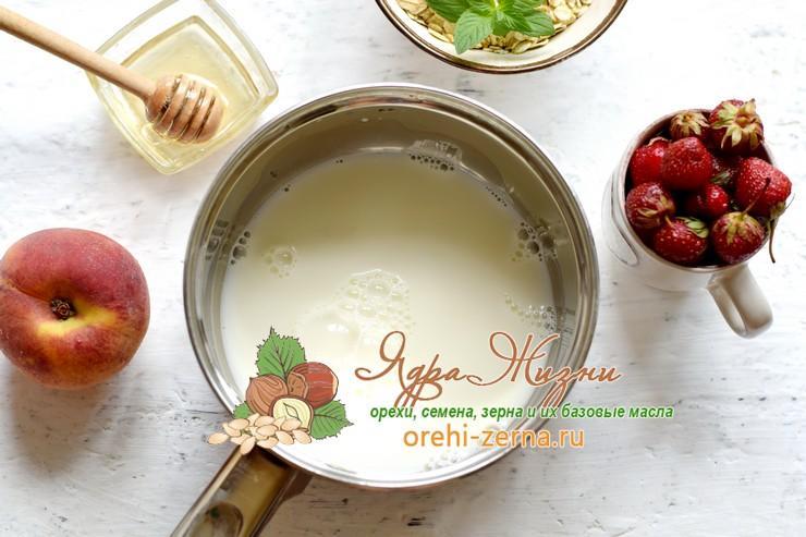 овсяная каша на кокосовом молоке рецепт
