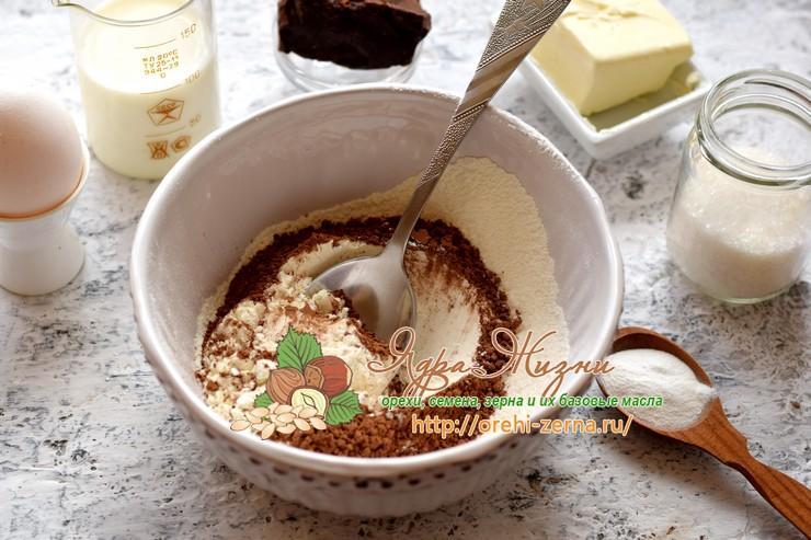 маффины с шоколадом и какао