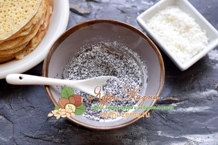 маковая начинка с кокосовой стружкой рецепт с фото