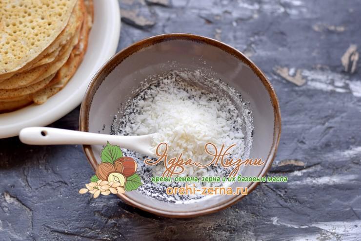маковая начинка с кокосовой стружкой рецепт приготовления