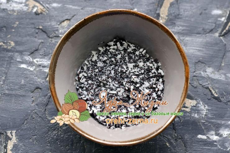 маковая начинка с кокосовой стружкой рецепт в домашних условиях