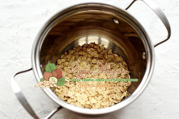 овсяная каша с орехами и сухофруктами рецепт с фото