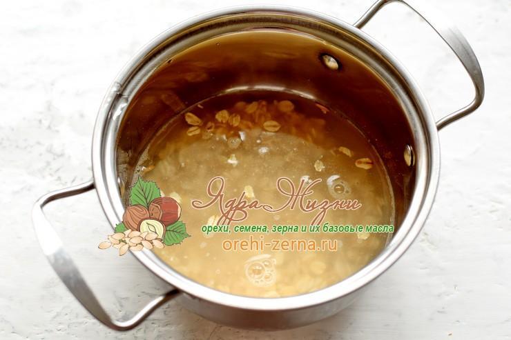 овсяная каша с орехами и сухофруктами рецепт пошагово