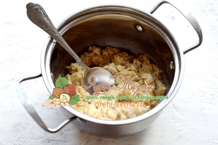 овсяная каша с орехами и сухофруктами рецепт в домашних условиях