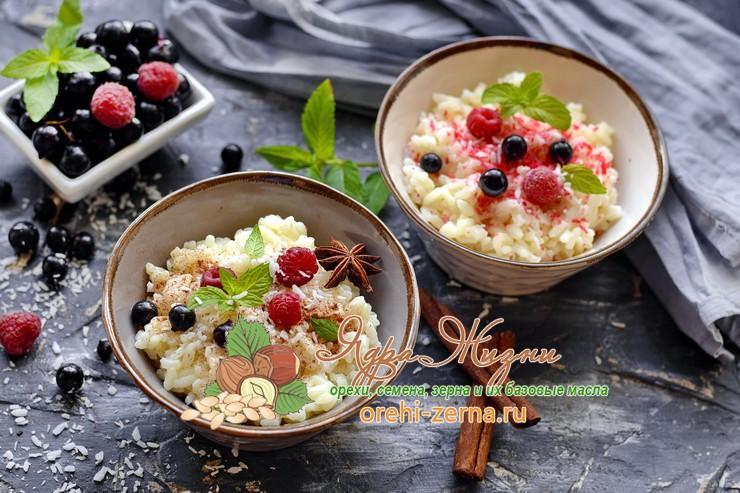 Рисовая каша на кокосовом молоке: фото рецепт в домашних условиях