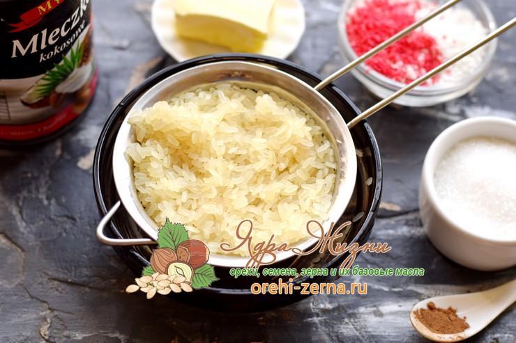 рисовая каша на кокосовом молоке рецепт