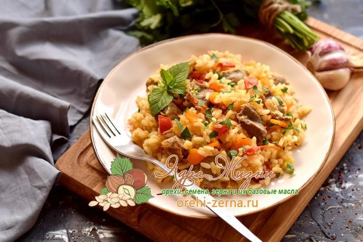 Куриные желудки с рисом и овощами: рецепт в домашних условиях