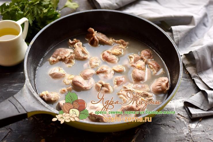 куриные желудки с рисом рецепт с фото