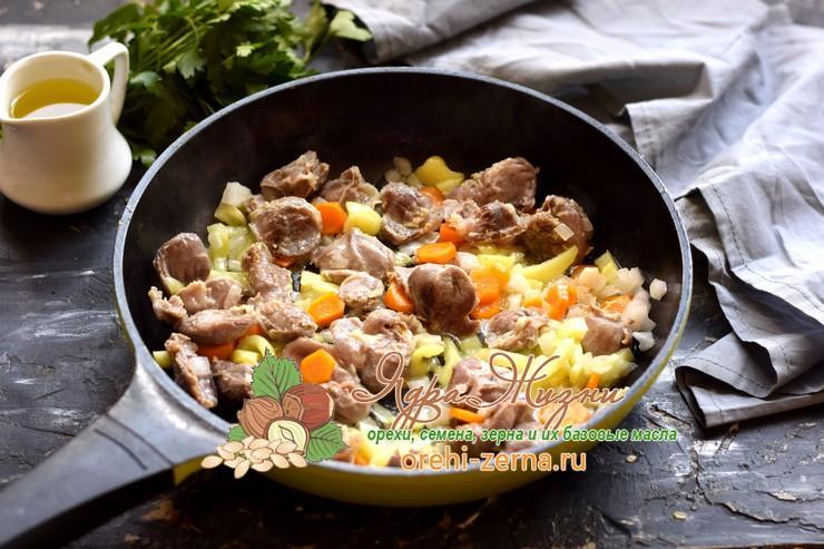 куриные желудки с рисом рецепт в домашних условиях