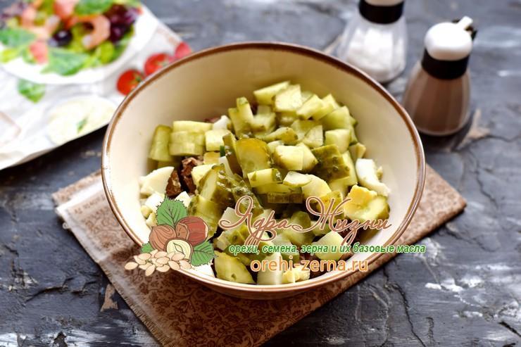 салат с печенью и фасолью рецепт с фото