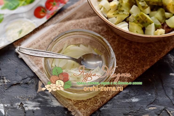 салат с печенью и фасолью рецепт приготовления
