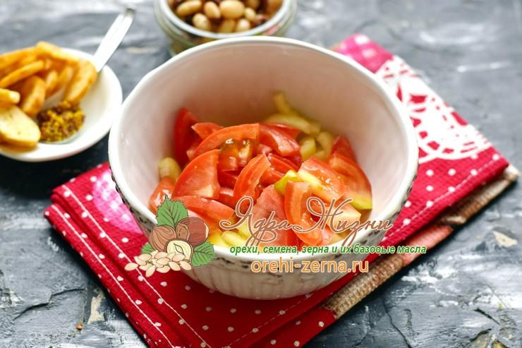 салат с фасолью и печенью рецепт с фото