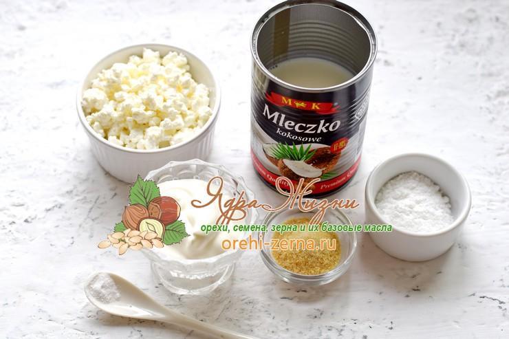 Творожное бланманже с кокосовым молоком