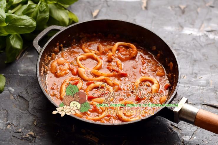 красный рис с кальмарами рецепт в домашних условиях