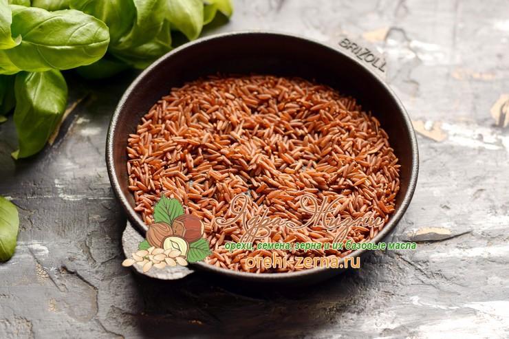 красный рис с кальмарами рецепт