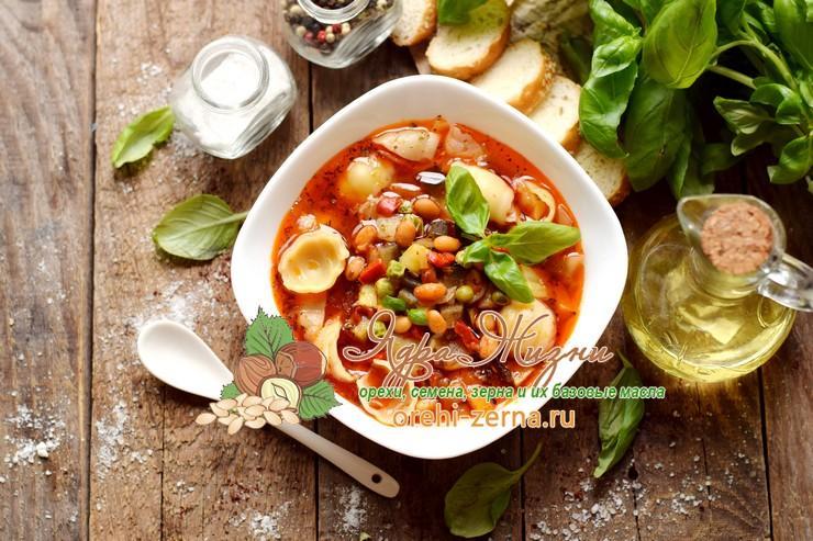 Итальянский суп Минестроне с фасолью рецепт в домашних условиях
