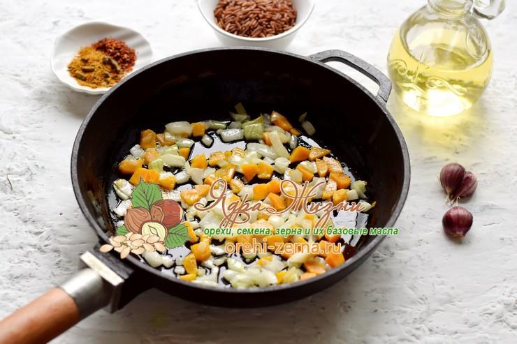 постный плов с нутом из двух видов риса рецепт с фото