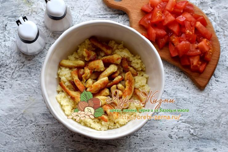 салат с кус-кусом и курицей рецепт