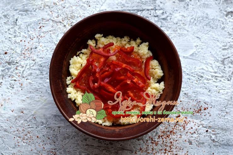салат с красной рыбой и кус-кусом рецепт в домашних условиях