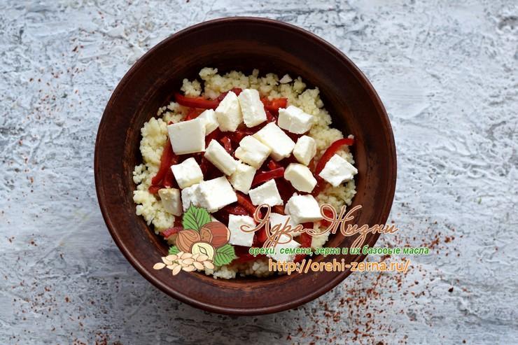 салат с красной рыбой и кус-кусом рецепт