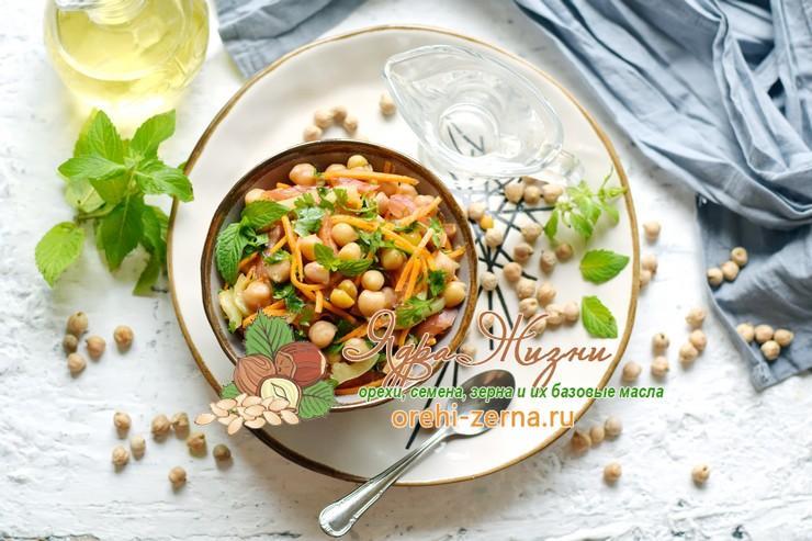 салат с нутом и овощами рецепт в домашних условиях