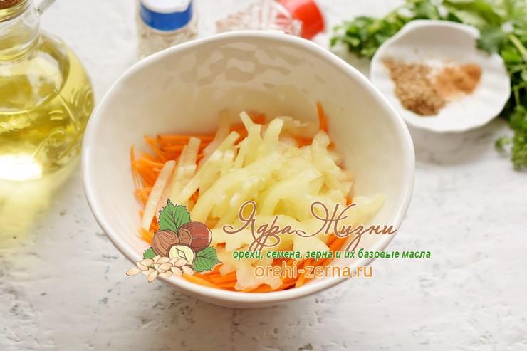 салат с нутом и овощами рецепт с фото