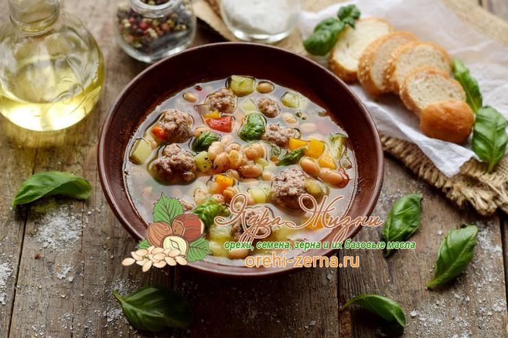 суп с фрикадельками и фасолью рецепт в домашних условиях