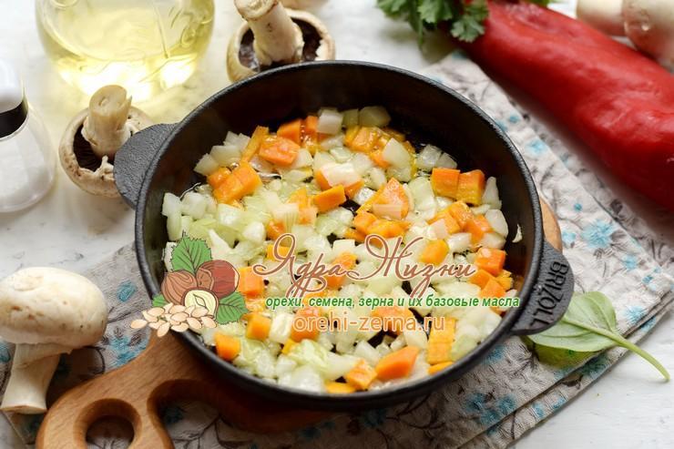 теплый салат из красного риса рецепт пошагово