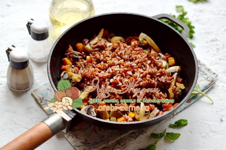 теплый салат из красного риса рецепт в домашних условиях
