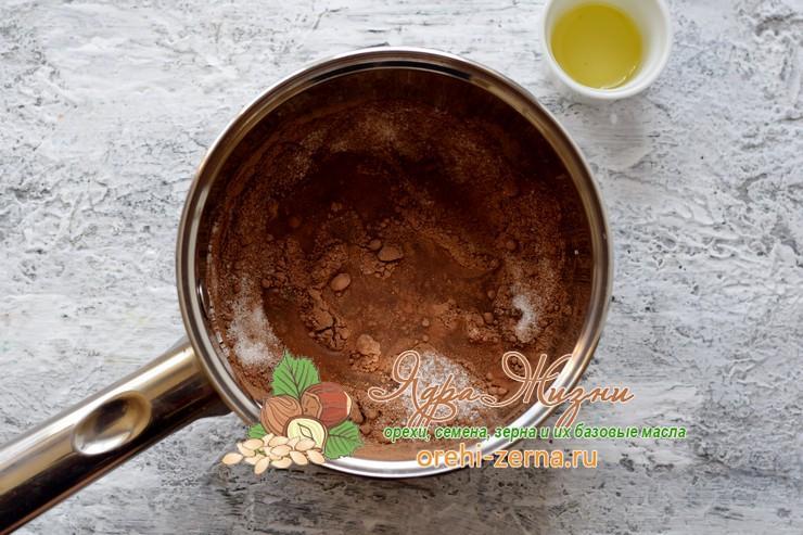 глазурь из какао порошка рецепт с фото