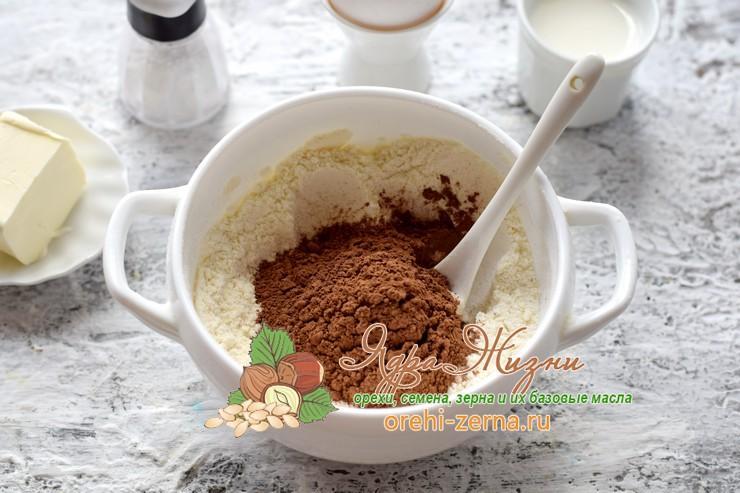 шоколадный кекс с какао в микроволновке рецепт с фото