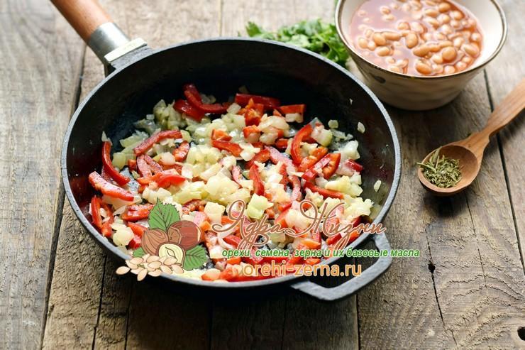 кальмары с фасолью пошаговый рецепт приготовления