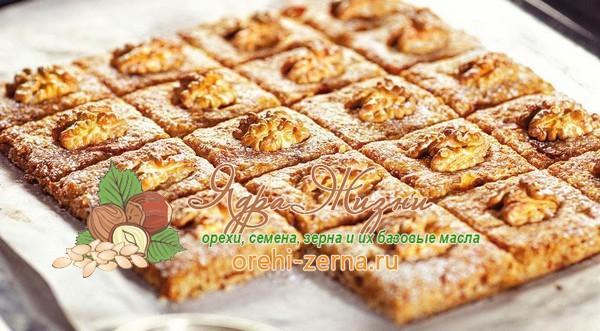 Печенье с яблоками, финиками и орешками