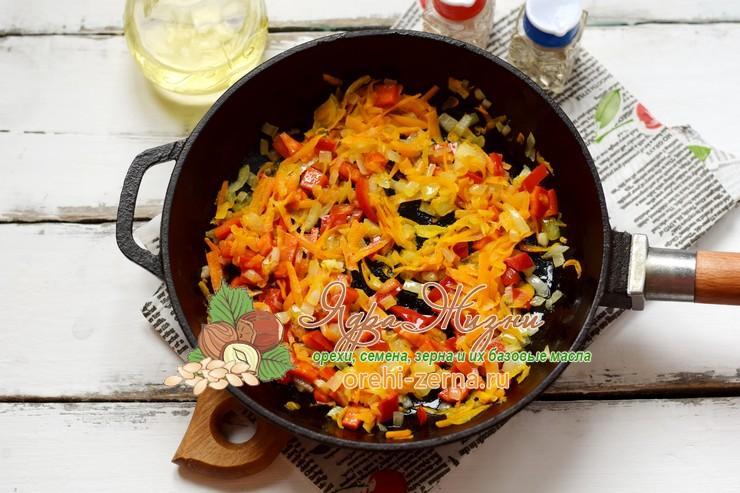 овощное рагу с красным рисом пошаговый рецепт