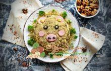 Салат Свинка с орехами на Новый 2019 год: фото рецепт пошагово на праздничный стол в домашних условиях