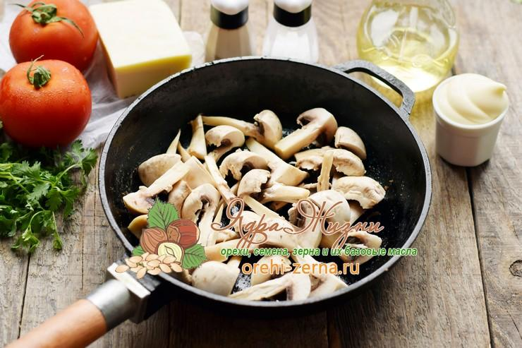 Салат с консервированной фасолью и грибами