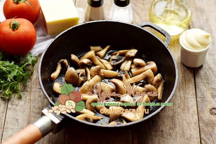 Салат с консервированной фасолью и грибами рецепт