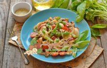 Салат со спаржевой фасолью и сырыми грибами и помидорами: рецепт в домашних условиях