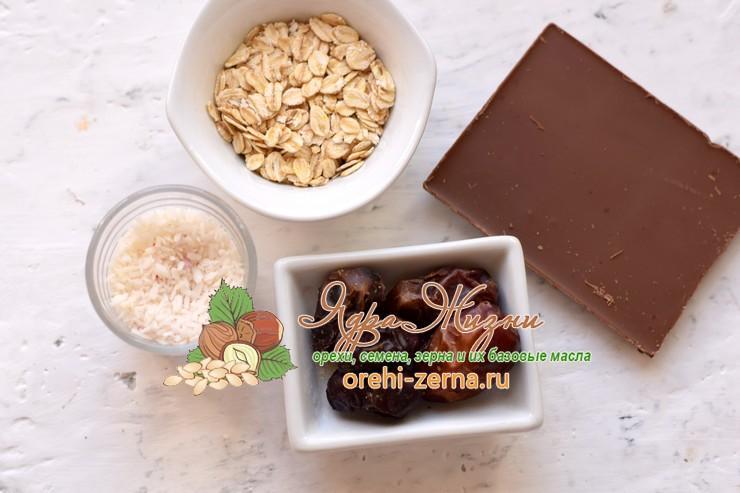 Шоколадные конфеты с финиками, кокосовой стружкой: фото рецепт