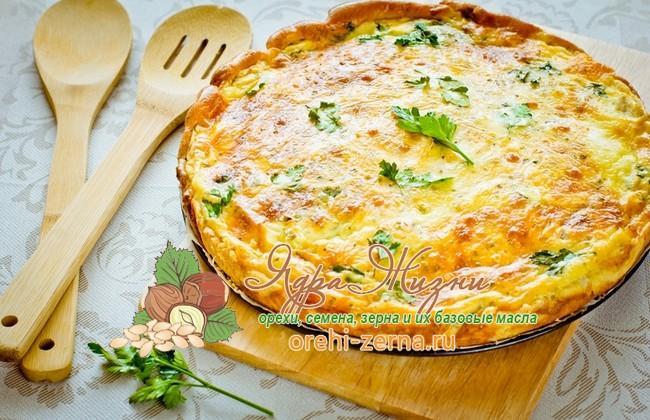 Сырный пирог с зеленью